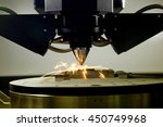 detail of 3d printer printing a ... | Shutterstock . vector #450749968