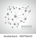 nigeria dot vector map | Shutterstock .eps vector #450756415