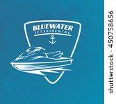 jet ski rental emblem on grunge ...   Shutterstock .eps vector #450758656