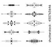 boho tribal aztec ethnic style... | Shutterstock .eps vector #450765646