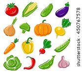 collection of vegetables set.... | Shutterstock .eps vector #450767578