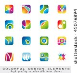 abstract colorful collection of ... | Shutterstock .eps vector #45076894