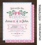 wedding invitation card  back... | Shutterstock .eps vector #450769846
