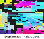 glitch background in the rave... | Shutterstock .eps vector #450772546