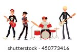 rock band cartoon style vector... | Shutterstock .eps vector #450773416