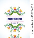mexican pattern  beautiful... | Shutterstock .eps vector #450776512