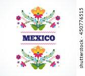 mexican pattern  beautiful... | Shutterstock .eps vector #450776515