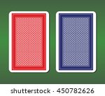playing card back designs | Shutterstock .eps vector #450782626