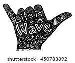 Black Surfer Shaka Hand...