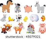 farm animals vector | Shutterstock .eps vector #45079321
