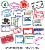 various visa stamps from... | Shutterstock .eps vector #45079783