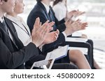 happy business group of people... | Shutterstock . vector #450800092