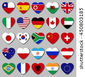 famous country  a set of flags... | Shutterstock .eps vector #450803185