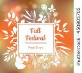 fall festival. vector colorful... | Shutterstock .eps vector #450805702