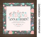 wedding invitation card  vector ... | Shutterstock .eps vector #450808492