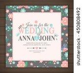 wedding invitation card  vector ... | Shutterstock .eps vector #450808492