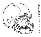 football helmet | Shutterstock .eps vector #450809635