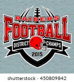 district champs football t... | Shutterstock .eps vector #450809842