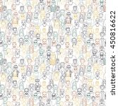 seamless pattern of hand drawn... | Shutterstock .eps vector #450816622