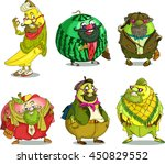 cartoon. vector. set funny... | Shutterstock .eps vector #450829552