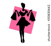 Silhouette Of Girl With...