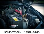 jumper cable for recharge the... | Shutterstock . vector #450835336