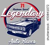 legendary 71 auto races vector  ... | Shutterstock .eps vector #450841072