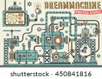 fantastic steampunk machine in... | Shutterstock .eps vector #450841816