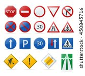 European Traffic Road Sign...