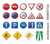 European Traffic Road Sign...