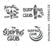 set of surf club concept vector ... | Shutterstock .eps vector #450846118