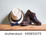 men's accessories with brown... | Shutterstock . vector #450852475