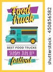 food truck festival menu... | Shutterstock .eps vector #450856582