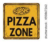 pizza zone vintage rusty metal... | Shutterstock .eps vector #450867262