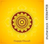 happy diwali. elegant greeting... | Shutterstock .eps vector #450869908