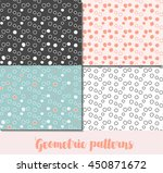 collection of cute seamless... | Shutterstock .eps vector #450871672