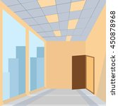office with door huge glass... | Shutterstock .eps vector #450878968