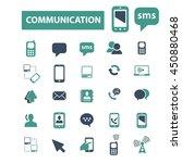 communication icons | Shutterstock .eps vector #450880468