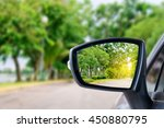 Side Rear View Mirror On A Car.
