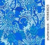 tracery seamless calming...   Shutterstock .eps vector #450883825