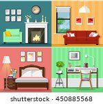 set of colorful graphic room...   Shutterstock .eps vector #450885568