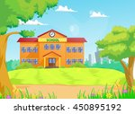 illustration of school building   Shutterstock .eps vector #450895192