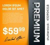 vector premium layered promo... | Shutterstock .eps vector #450904318