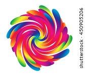 rainbow twirl | Shutterstock . vector #450905206