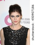 Small photo of Hollywood, California, USA; March 2, 2014; Alexandra Daddario arrives to Elton John AIDS Foundation Presents 22nd Academy Award Viewing Party.