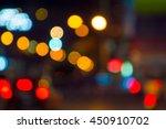 bokeh car lights background | Shutterstock . vector #450910702