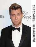 Small photo of Hollywood, California; March 2, 2014; Lance Bass arrives to Elton John AIDS Foundation Presents 22nd Academy Awards Viewing Party.