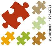 puzzle piece sign. colorful...