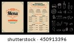 brochure or poster restaurant ... | Shutterstock .eps vector #450913396