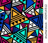 bright colored seamless pattern ... | Shutterstock .eps vector #450914512